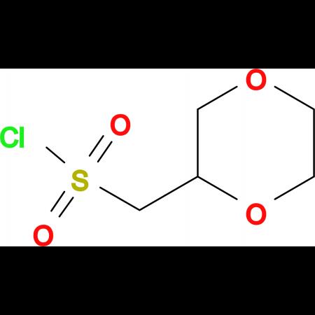 1,4-dioxan-2-ylmethanesulfonyl chloride