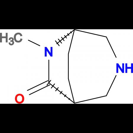 (1R*,5S*)-6-methyl-3,6-diazabicyclo[3.2.2]nonan-7-one