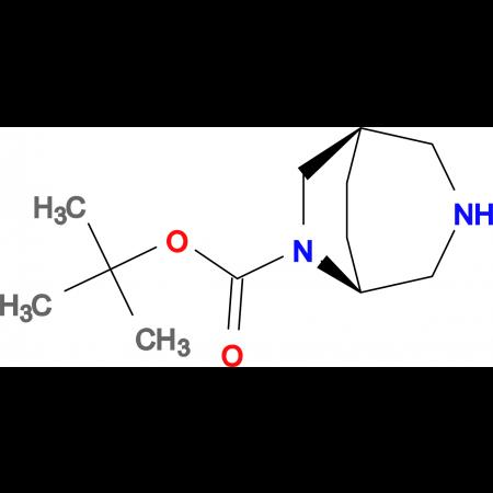 tert-butyl (1R*,5S*)-3,6-diazabicyclo[3.2.2]nonane-6-carboxylate