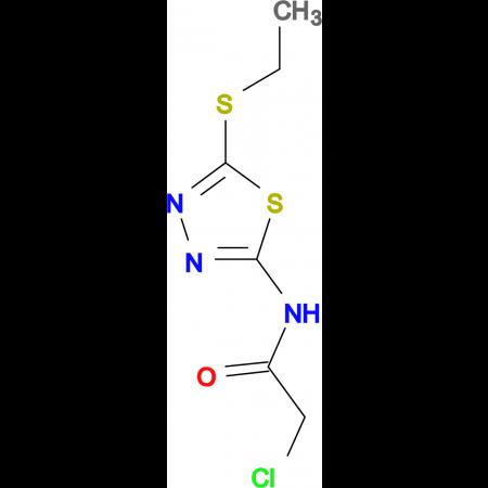 2-chloro-N-[5-(ethylthio)-1,3,4-thiadiazol-2-yl]acetamide