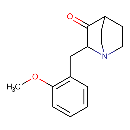2-(2-methoxybenzyl)quinuclidin-3-one