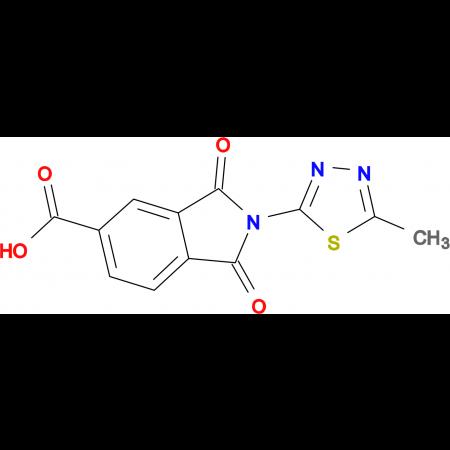 2-(5-methyl-1,3,4-thiadiazol-2-yl)-1,3-dioxoisoindoline-5-carboxylic acid