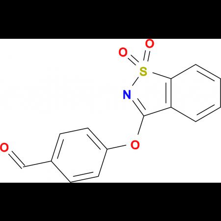 4-[(1,1-dioxido-1,2-benzisothiazol-3-yl)oxy]benzaldehyde
