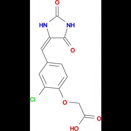 {2-chloro-4-[(E)-(2,5-dioxoimidazolidin-4-ylidene)methyl]phenoxy}acetic acid