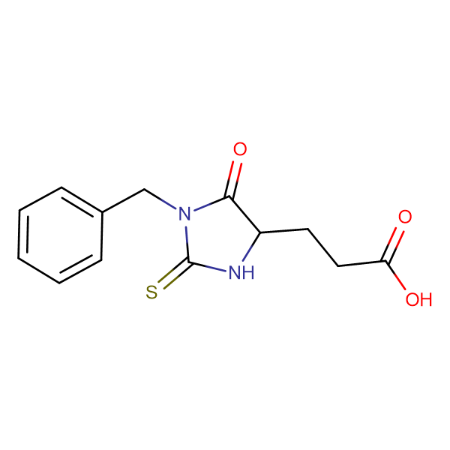 3-(1-benzyl-5-oxo-2-thioxoimidazolidin-4-yl)propanoic acid