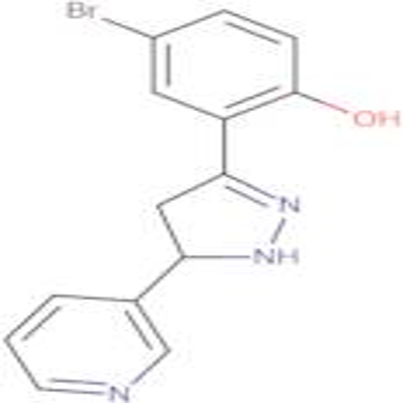 4-bromo-2-(5-pyridin-3-yl-4,5-dihydro-1H-pyrazol-3-yl)phenol