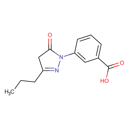 3-(5-oxo-3-propyl-4,5-dihydro-1H-pyrazol-1-yl)benzoic acid