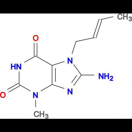 8-amino-7-(2-buten-1-yl)-3-methyl-3,7-dihydro-1H-purine-2,6-dione