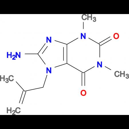 8-amino-1,3-dimethyl-7-(2-methyl-2-propen-1-yl)-3,7-dihydro-1H-purine-2,6-dione
