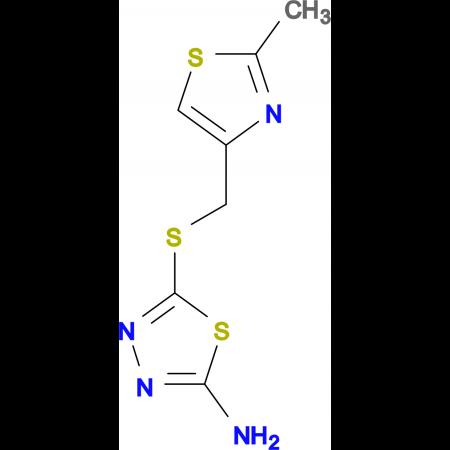 5-{[(2-methyl-1,3-thiazol-4-yl)methyl]thio}-1,3,4-thiadiazol-2-amine