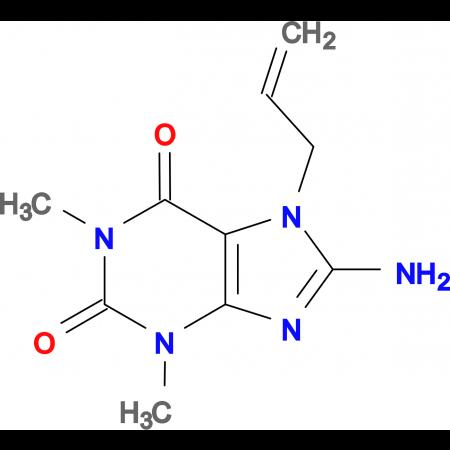 7-allyl-8-amino-1,3-dimethyl-3,7-dihydro-1H-purine-2,6-dione