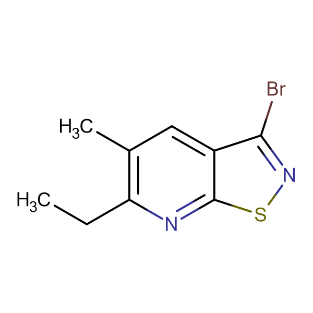 3-bromo-6-ethyl-5-methylisothiazolo[5,4-b]pyridine
