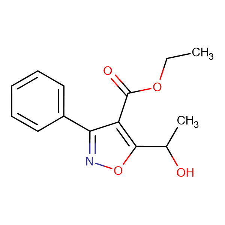 Ethyl 5-(1-hydroxyethyl)-3-phenylisoxazole-4-carboxylate