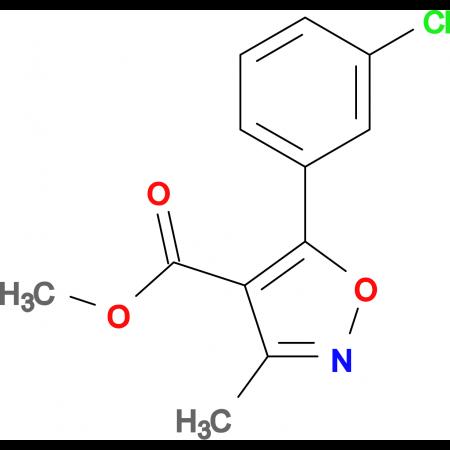 Methyl 5-(3-chlorophenyl)-3-methylisoxazole-4-carboxylate