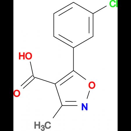 5-(3-Chlorophenyl)-3-methylisoxazole-4-carboxylic acid