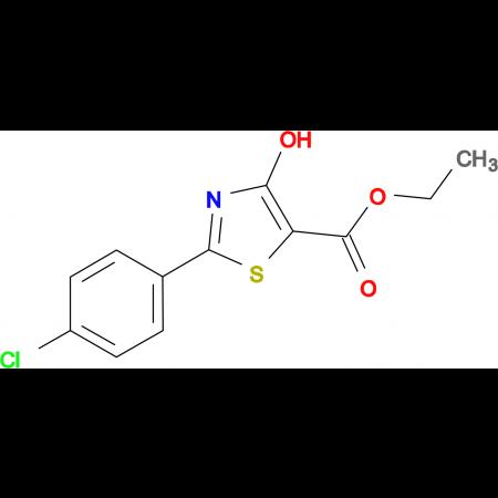 2-(4-Chloro-phenyl)-4-hydroxy-thiazole-5-carboxylic acid ethyl ester