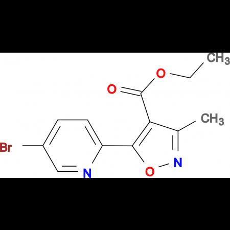 5-(5-Bromo-pyridin-2-yl)-3-methyl-isoxazole-4-carboxylic acid ethyl ester