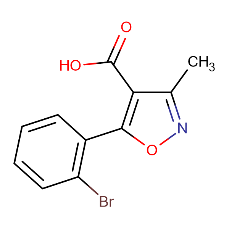 5-(2-Bromophenyl)-3-methylisoxazole-4-carboxylic acid