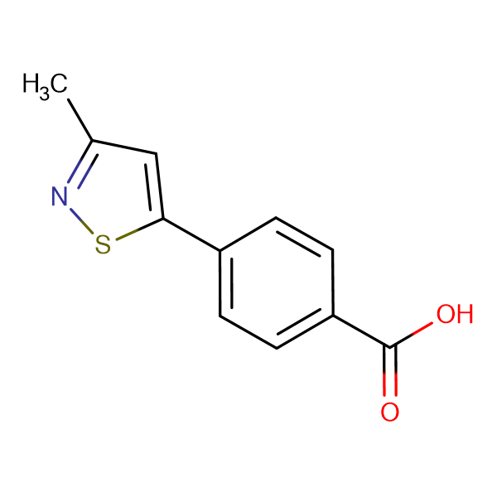 4-(3-Methylisothiazol-5-yl)benzoic acid