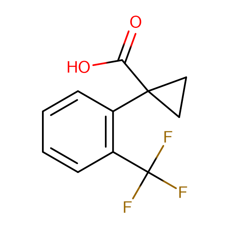 1-(2-(Trifluoromethyl)phenyl)cyclopropanecarboxylic acid