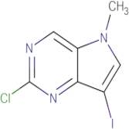 2-Chloro-7-iodo-5-methyl-5H-pyrrolo[3,2-d]pyrimidine