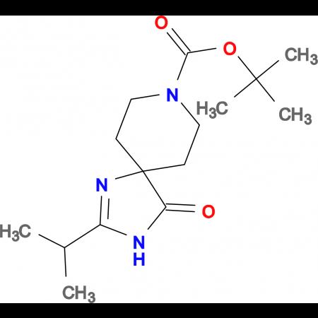 tert-Butyl 2-isopropyl-4-oxo-1,3,8-triazaspiro[4.5]dec-1-ene-8-carboxylate