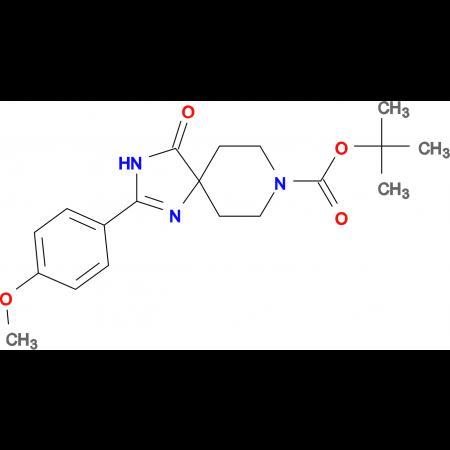 tert-Butyl2-(4-methoxyphenyl)-4-oxo-1,3,8-triazaspiro[4.5]dec-1-ene-8-carboxylate