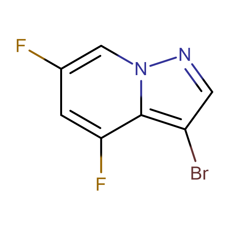 3-BROMO-4,6-DIFLUOROPYRAZOLO[1,5-A]PYRIDINE
