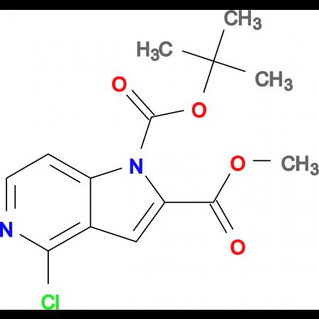 1-TERT-BUTYL 2-METHYL 4-CHLORO-1H-PYRROLO[3,2-C]PYRIDINE-1,2-DICARBOXYLATE