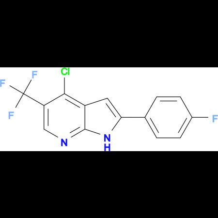 4-CHLORO-2-(4-FLUOROPHENYL)-5-(TRIFLUOROMETHYL)-1H-PYRROLO[2,3-B]PYRIDINE