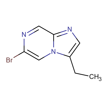 6-BROMO-3-ETHYL-IMIDAZO[1,2-A]PYRAZINE