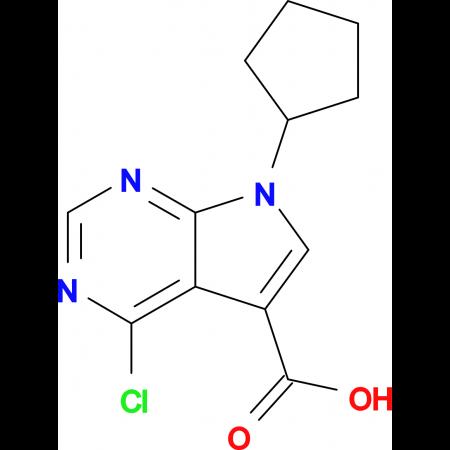 4-CHLORO-7-CYCLOPENTYL-7H-PYRROLO[2,3-D] PYRIMIDINE-5-CARBOXYLIC ACID