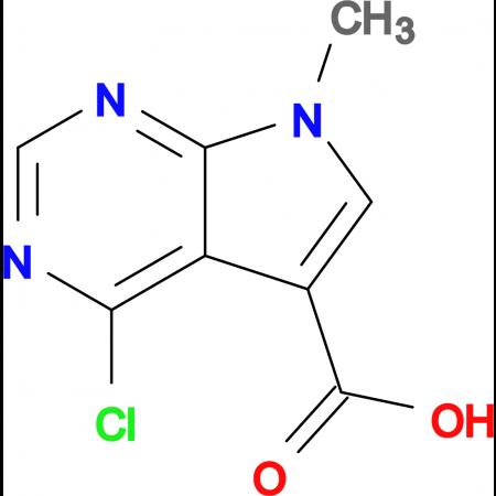 4-CHLORO-7-METHYL-7H-PYRROLO[2,3-D]PYRIMIDINE-5-CARBOXYLIC ACID