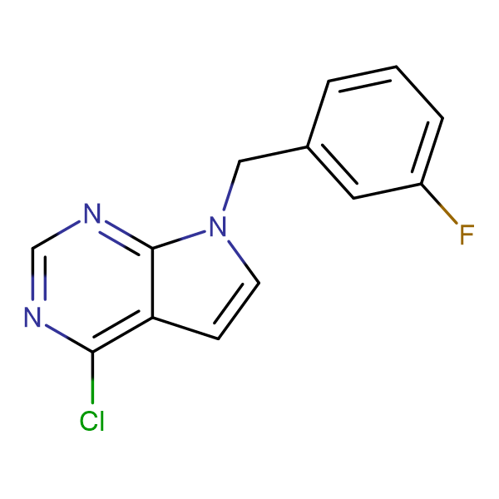 7-(3-FLUOROBENZYL)-4-CHLORO-7H-PYRROLO[2,3-D]PYRIMIDINE