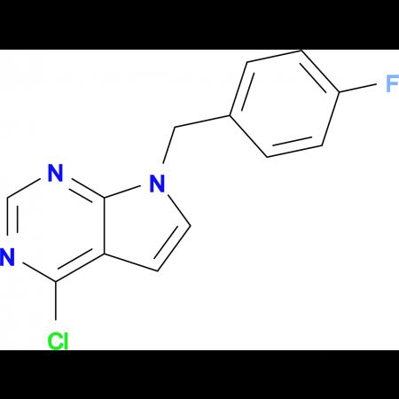 7-(4-FLUOROBENZYL)-4-CHLORO-7H-PYRROLO[2,3-D]PYRIMIDINE