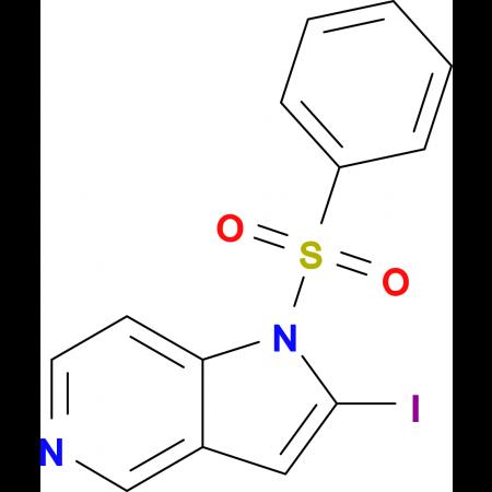 2-Iodo-1-(phenylsulfonyl)-1H-pyrrolo[3,2-c]pyridine