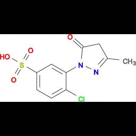 4-Chloro-3-(3-methyl-5-oxo-4,5-dihydro-1H-pyrazol-1-yl)benzenesulfonic acid