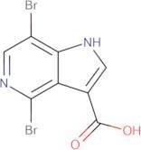 4,7-Dibromo-1H-pyrrolo[3,2-c]pyridine-3-carboxylic acid