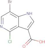 7-Bromo-4-chloro-1H-pyrrolo[3,2-c]pyridine-3-carboxylic acid