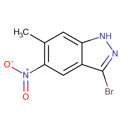 3-Bromo-6-methyl-5-nitro-1H-indazole