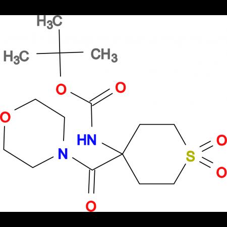 4-(Boc-amino)-1,1-dioxotetrahydrothiopyran-4-carboxylic acid morpholinamide