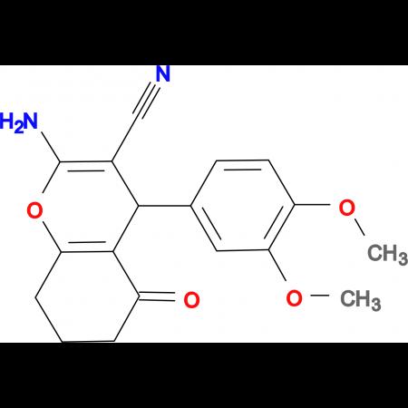 2-amino-4-(3,4-dimethoxyphenyl)-5-oxo-4,6,7,8-tetrahydro2H-chromene-3-carbonitrile, 97%
