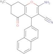 2-amino-7-methyl-4-(2-naphthyl)-5-oxo-4,6,7,8-tetrahydro2H-chromene-3-carbonitrile, 98%