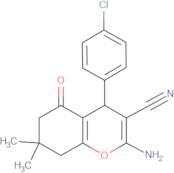 2-amino-4-(4-chlorophenyl)-7,7-dimethyl-5-oxo-4,6,7,8-tetrahydro2H-chromene-3-carbonitrile, 95%