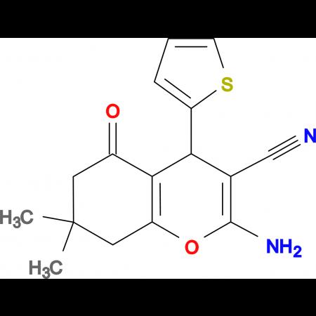 2-amino-7,7-dimethyl-5-oxo-4-(2-thienyl)-4,6,7,8-tetrahydro2H-chromene-3-carbonitrile, 95%