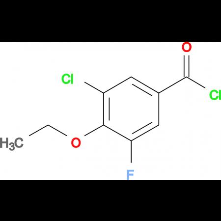 3-Chloro-4-ethoxy-5-fluorobenzoyl chloride