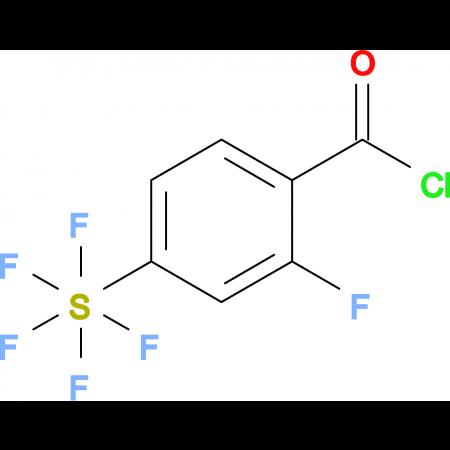 2-Fluoro-4-(pentafluorosulfur)benzoyl chloride