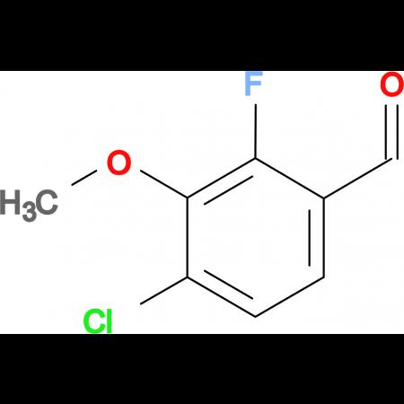 4-Chloro-2-fluoro-3-methoxybenzaldehyde