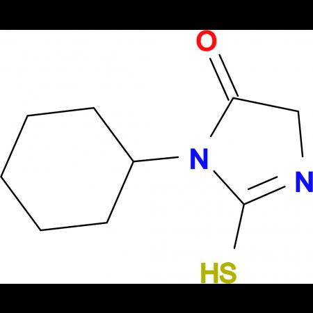 3-cyclohexyl-2-mercapto-3,5-dihydro-4H-imidazol-4-one