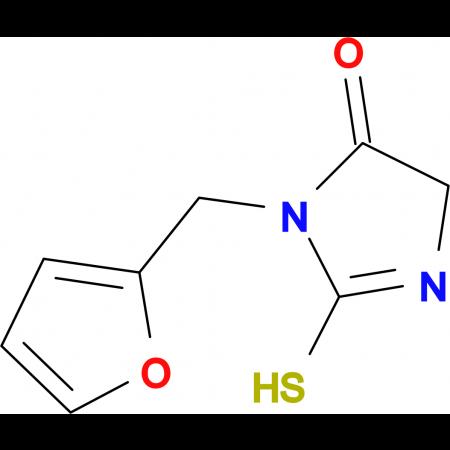 3-(2-furylmethyl)-2-mercapto-3,5-dihydro-4H-imidazol-4-one